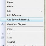 Adding a Web Reference in Visual Studio 2008